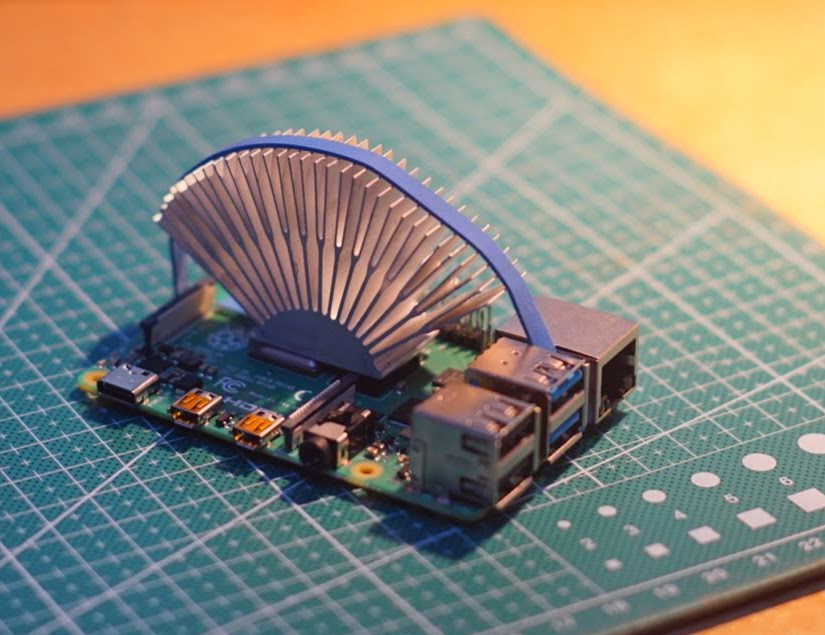 Intel cpu cooler on raspberry pi